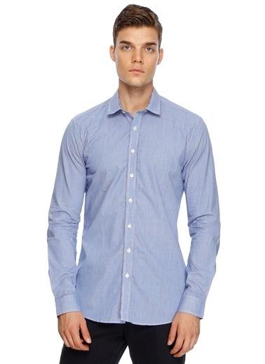 Fabrika Uzun Kollu Slim Fit Gömlek Lacivert